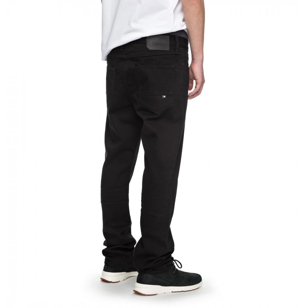 Mens Worker Straight Black Rinse Denim Jean EDYDP03337 DC Shoes