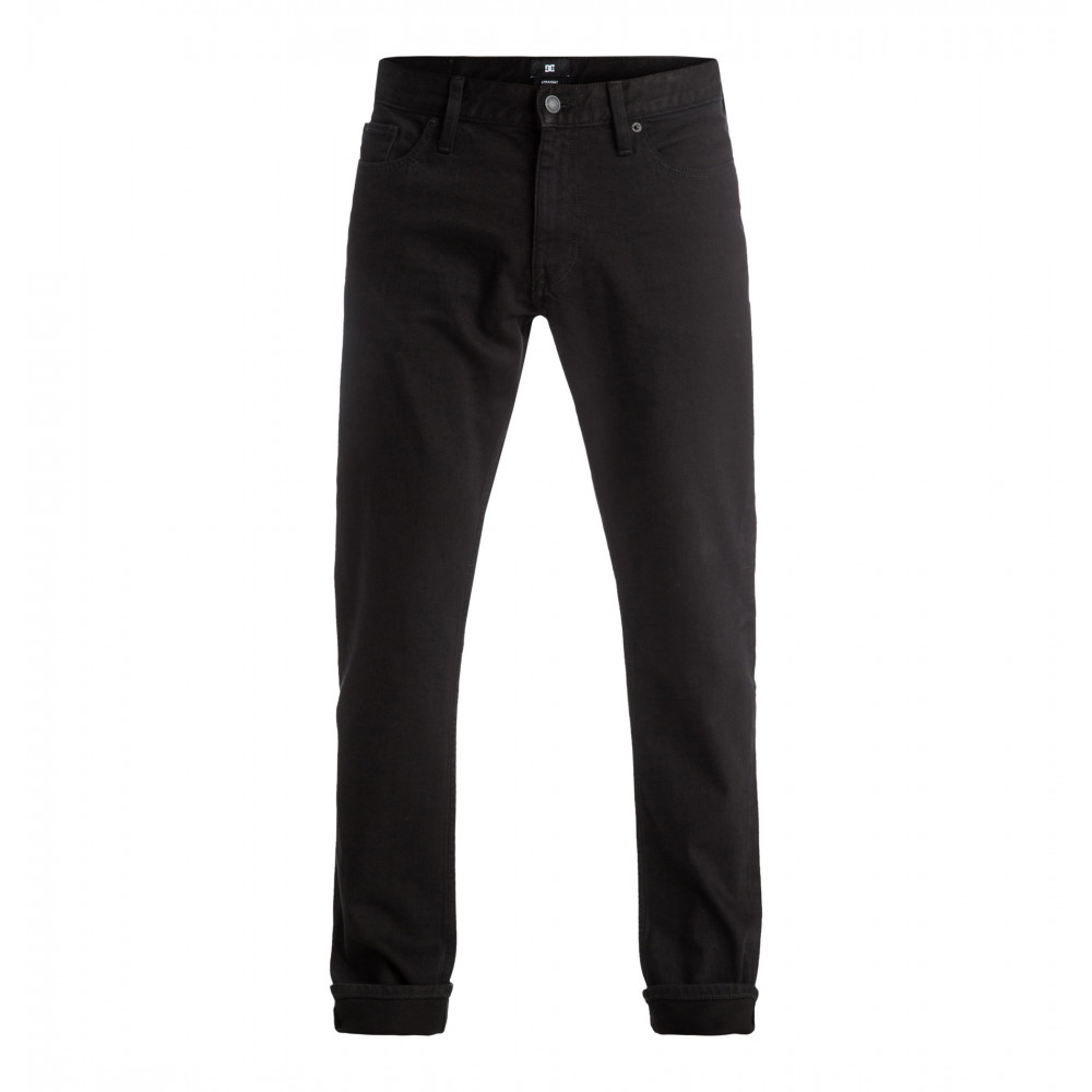 Mens Worker Straight Jean Black Black Rinse